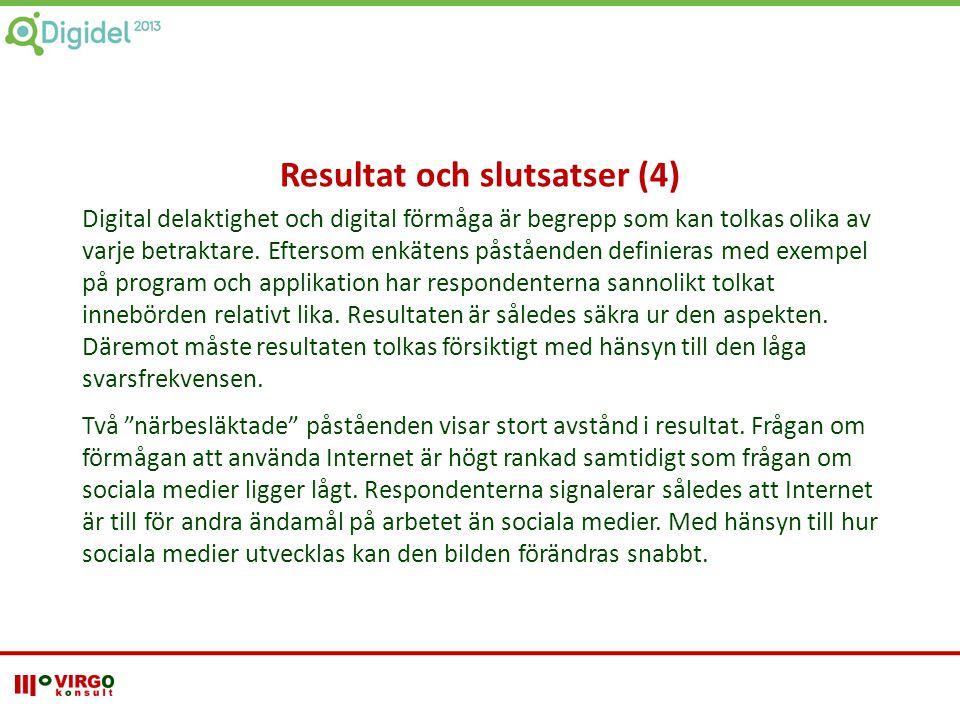 Resultat och slutsatser (4)
