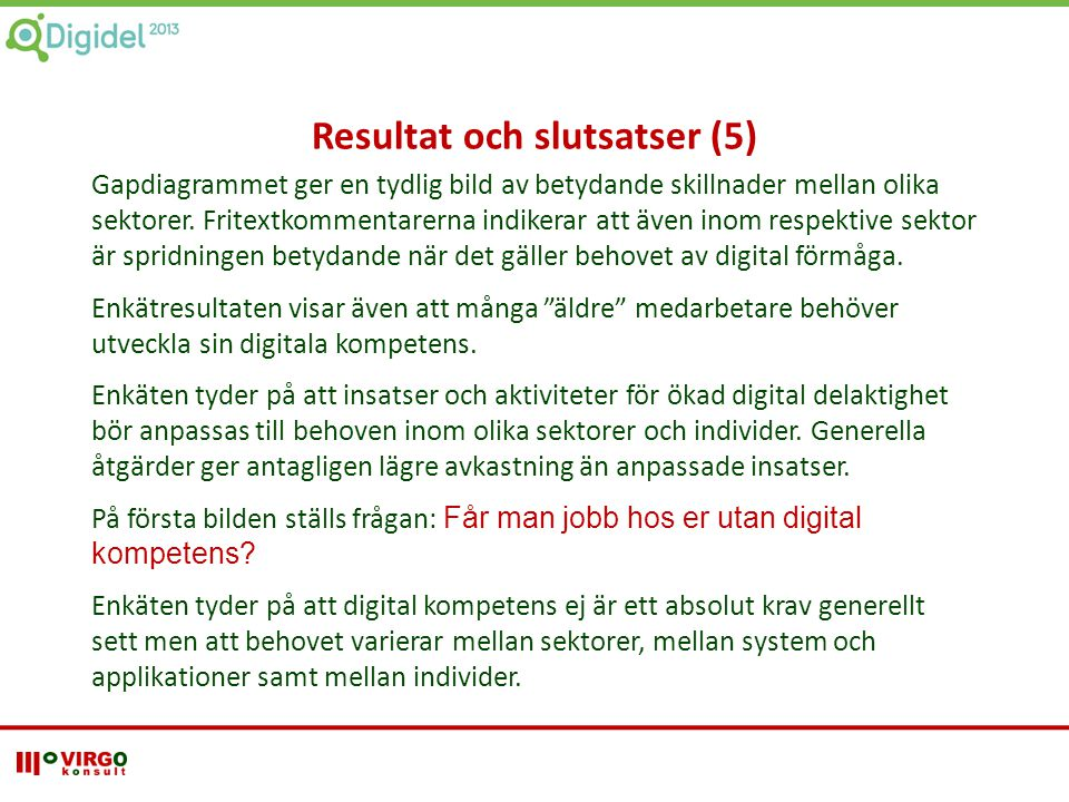 Resultat och slutsatser (5)