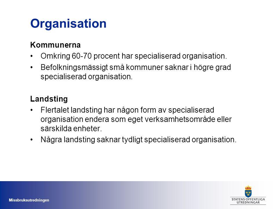 Organisation Kommunerna