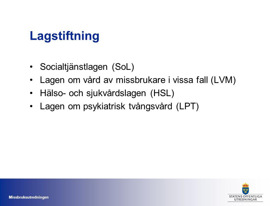 Lagstiftning Socialtjänstlagen (SoL)