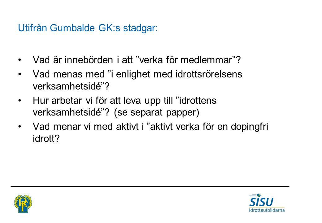 Utifrån Gumbalde GK:s stadgar: