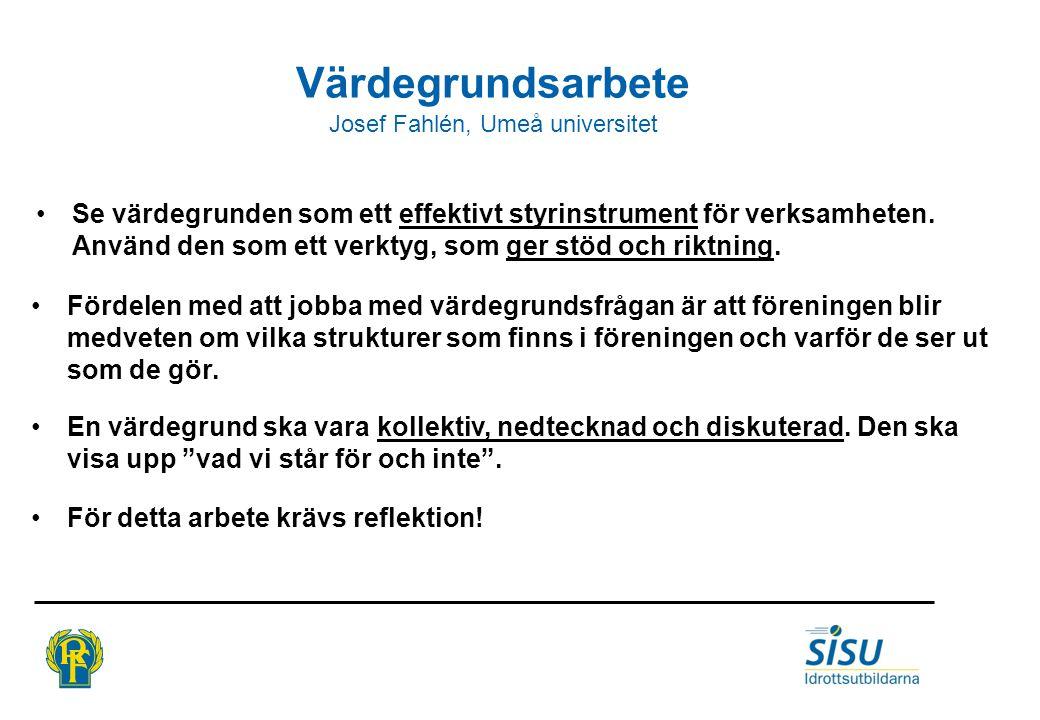 Josef Fahlén, Umeå universitet