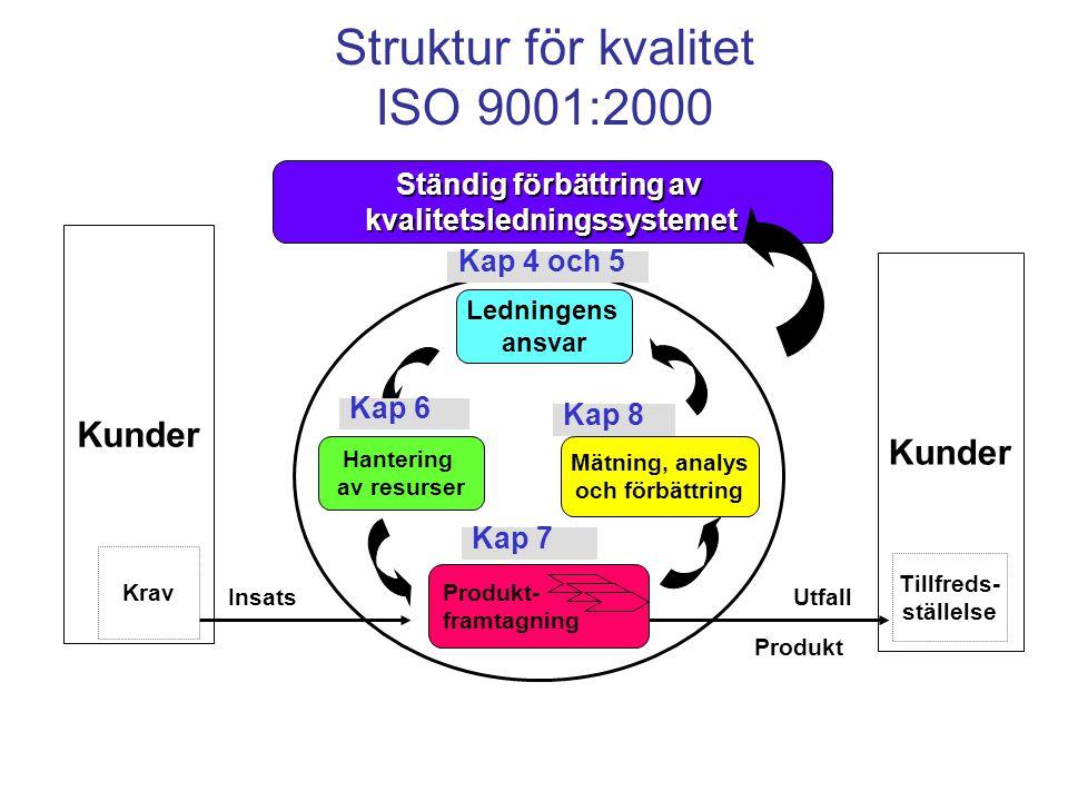 Struktur för kvalitet ISO 9001:2000
