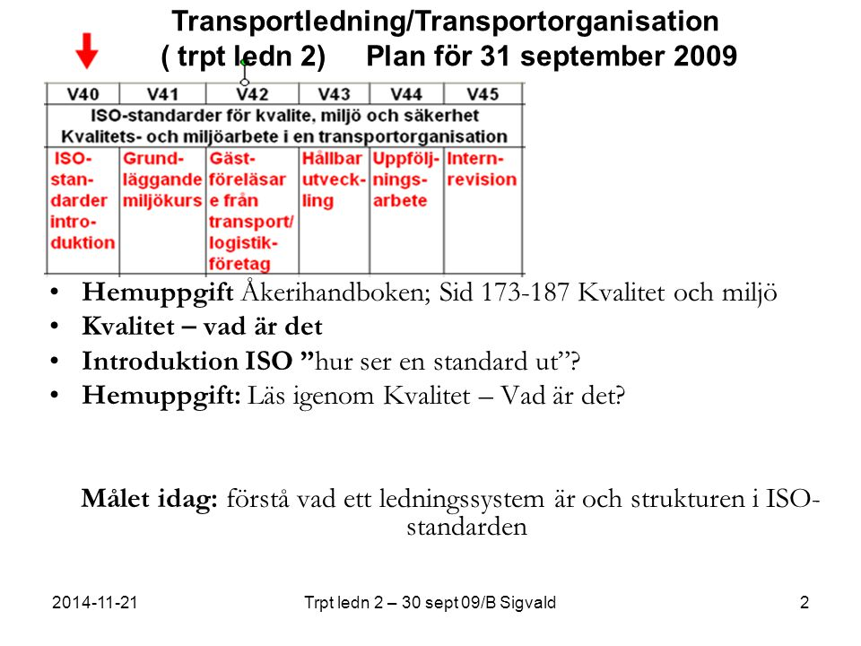 Trpt ledn 2 – 30 sept 09/B Sigvald