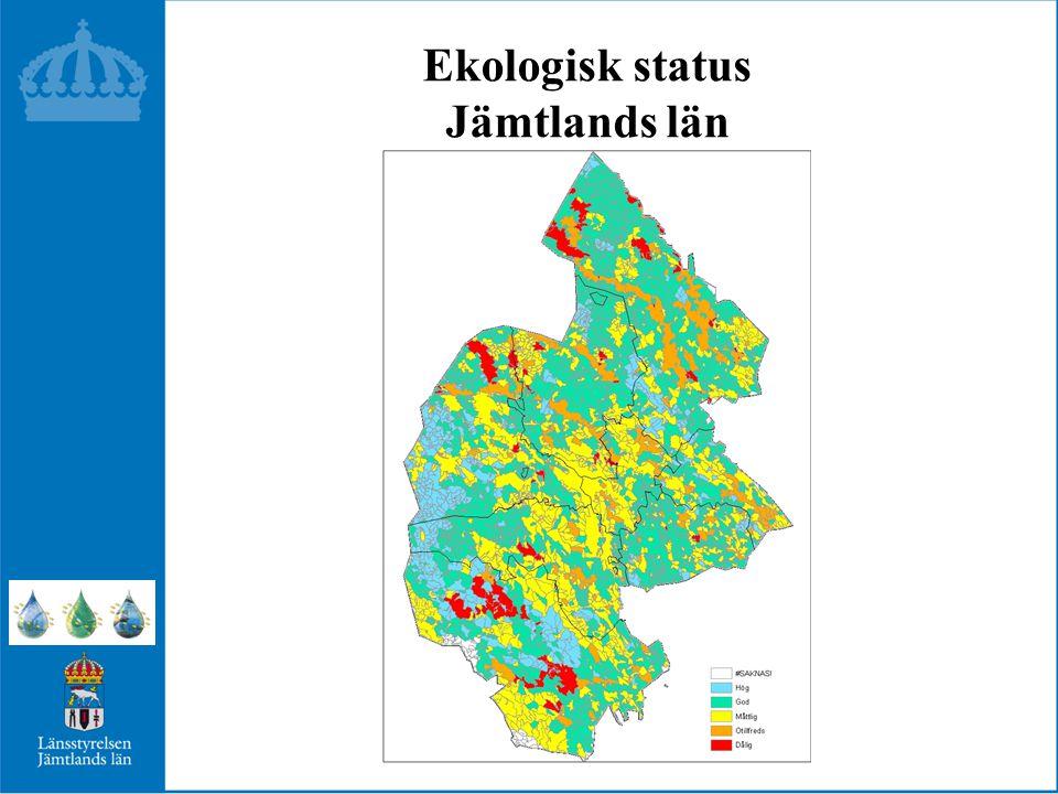 Ekologisk status Jämtlands län