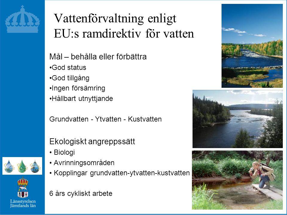 Vattenförvaltning enligt EU:s ramdirektiv för vatten