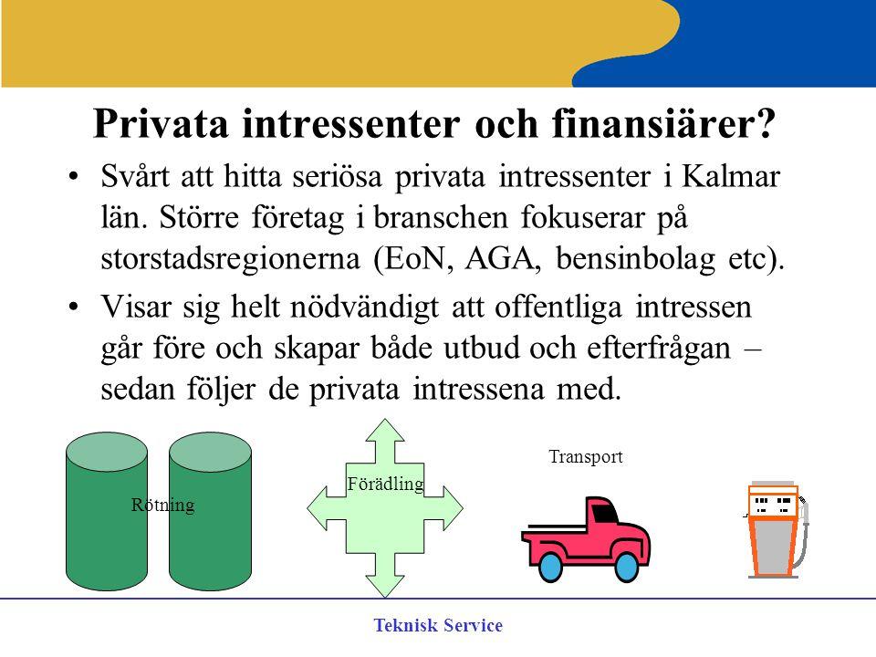 Privata intressenter och finansiärer