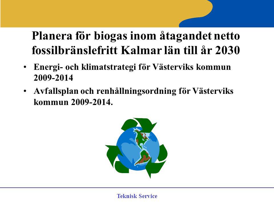 Planera för biogas inom åtagandet netto fossilbränslefritt Kalmar län till år 2030