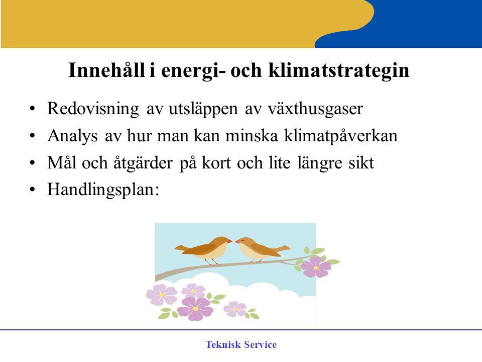 Innehåll i energi- och klimatstrategin