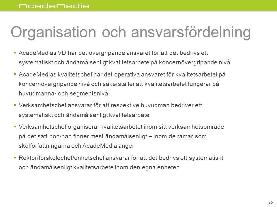 Organisation och ansvarsfördelning