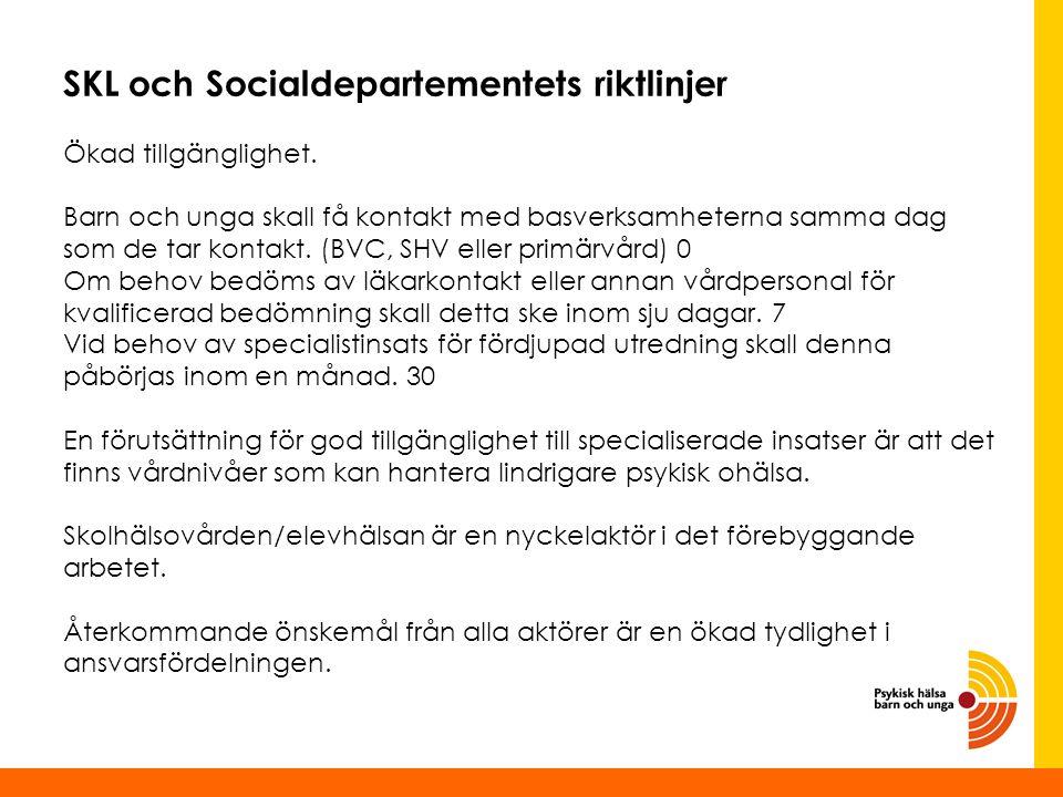 SKL och Socialdepartementets riktlinjer