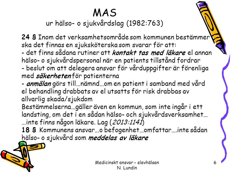 MAS ur hälso- o sjukvårdslag (1982:763)