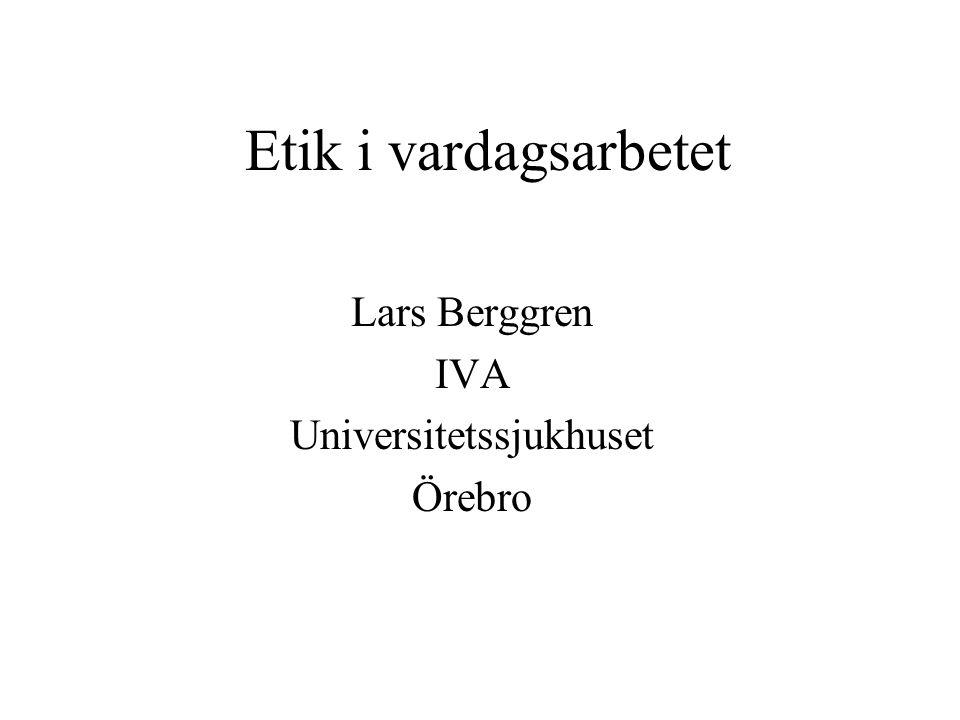 Lars Berggren IVA Universitetssjukhuset Örebro