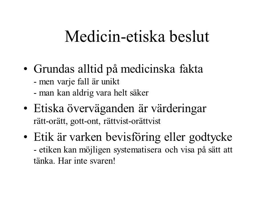 Medicin-etiska beslut