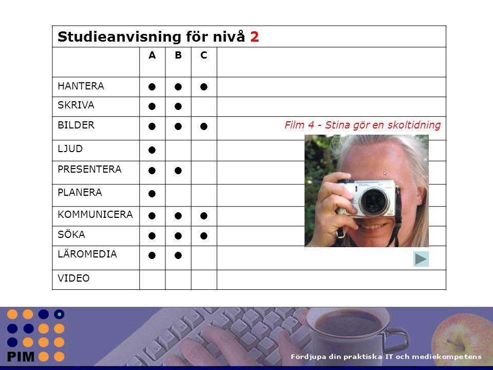 Studieanvisning för nivå 2