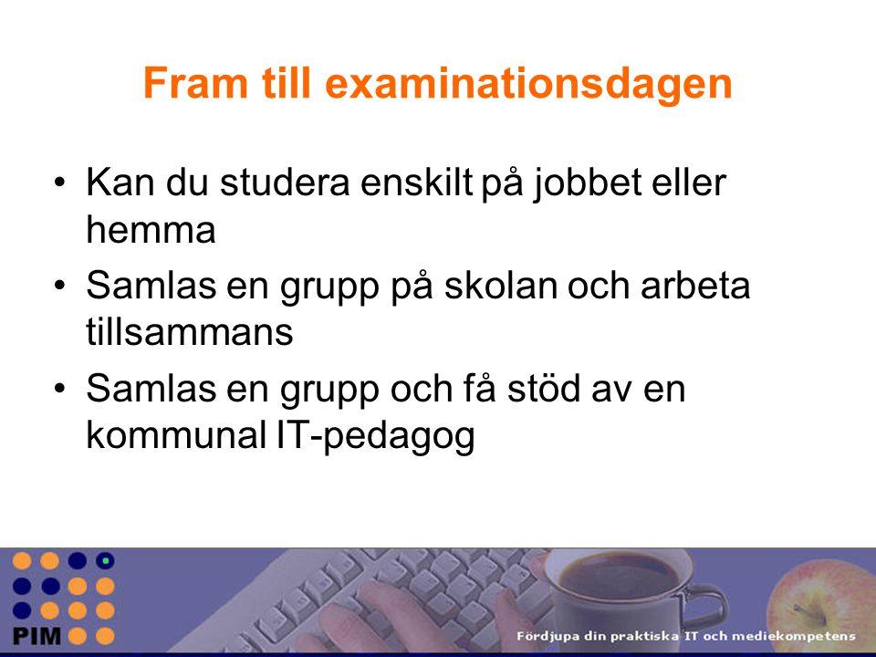 Fram till examinationsdagen