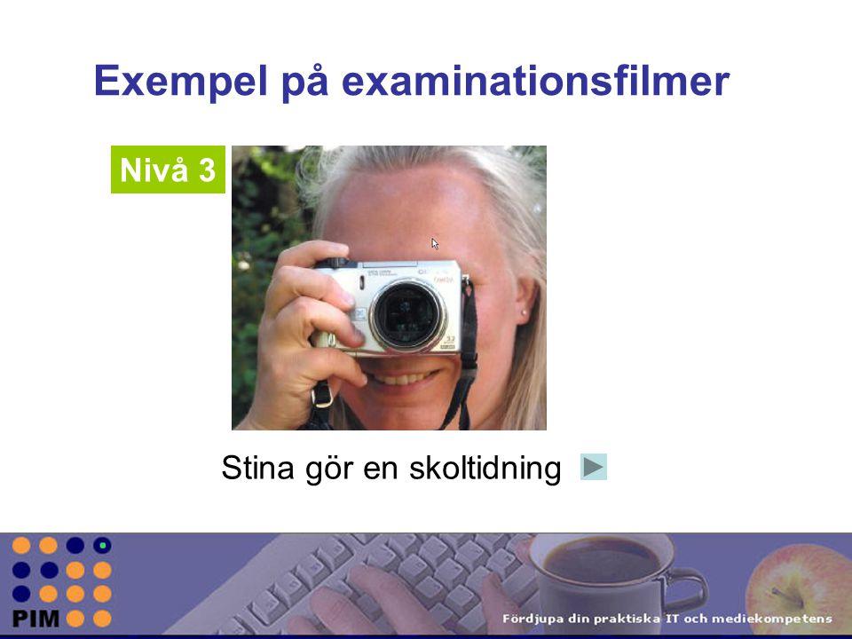 Exempel på examinationsfilmer
