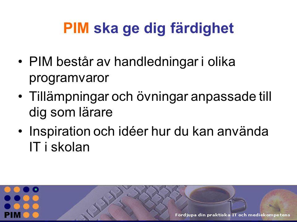 PIM ska ge dig färdighet