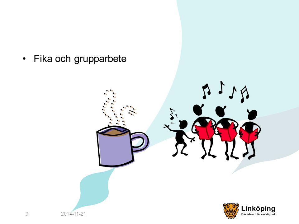 Fika och grupparbete 2017-04-07
