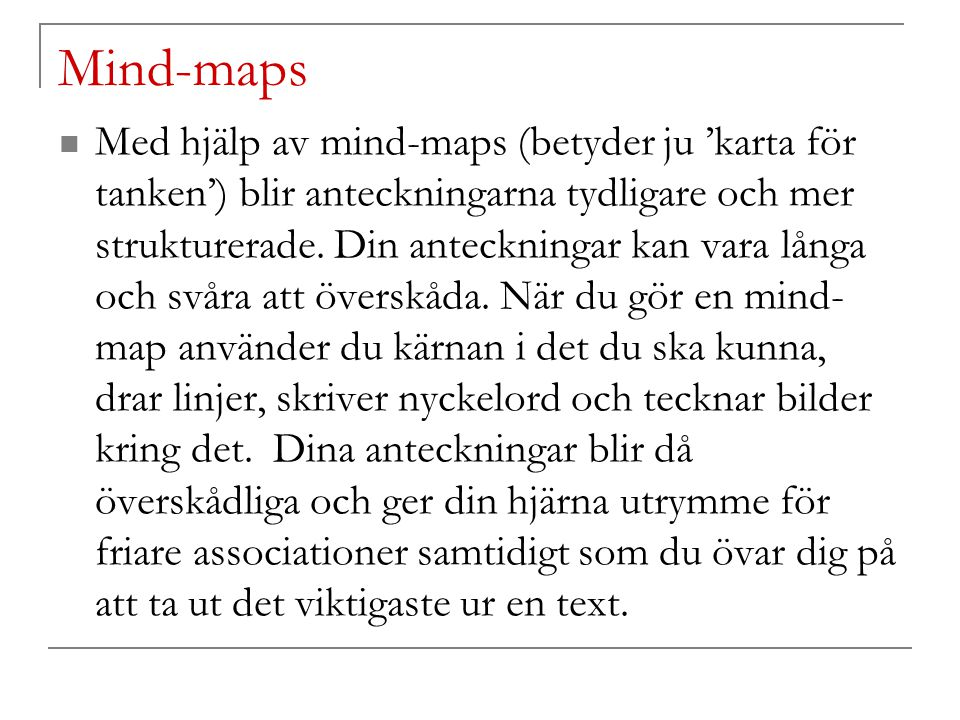 Mind-maps