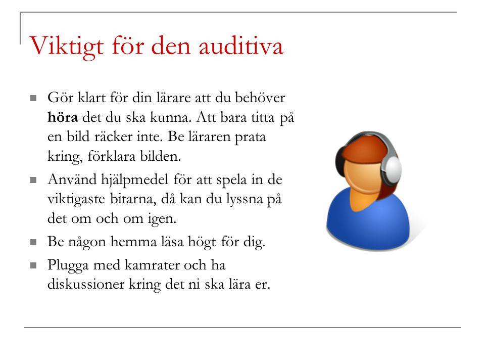Viktigt för den auditiva