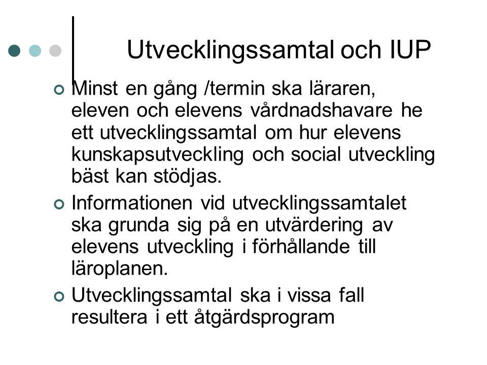 Utvecklingssamtal och IUP