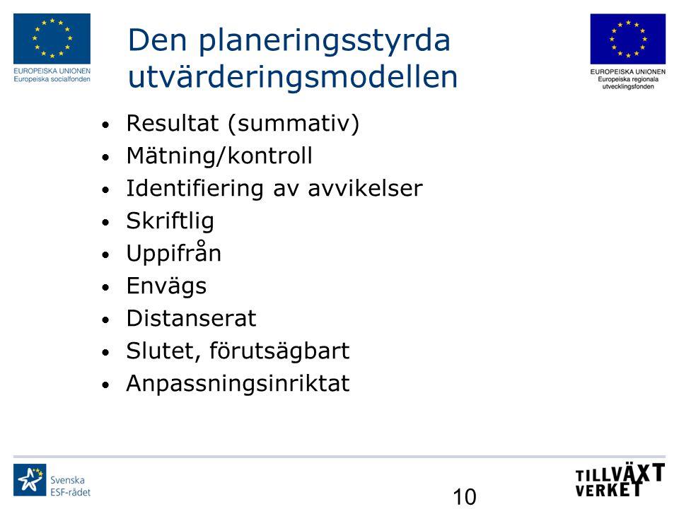 Den planeringsstyrda utvärderingsmodellen