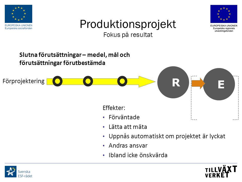 Produktionsprojekt R E Fokus på resultat
