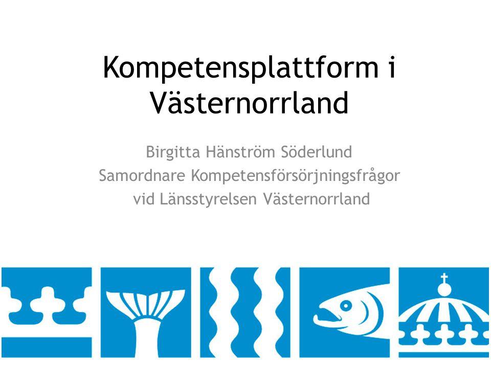 Kompetensplattform i Västernorrland
