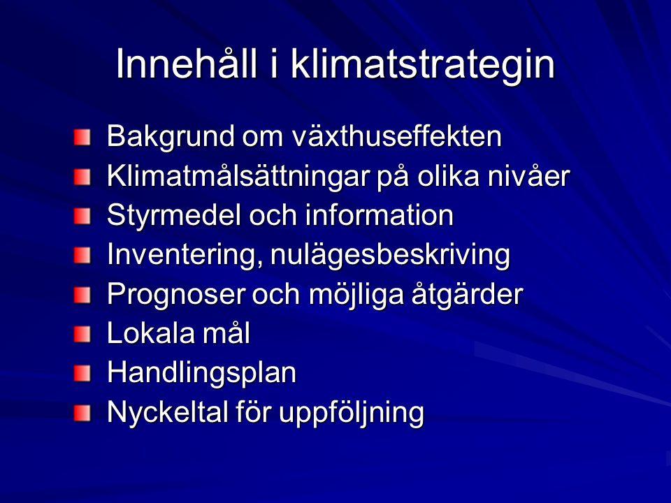 Innehåll i klimatstrategin