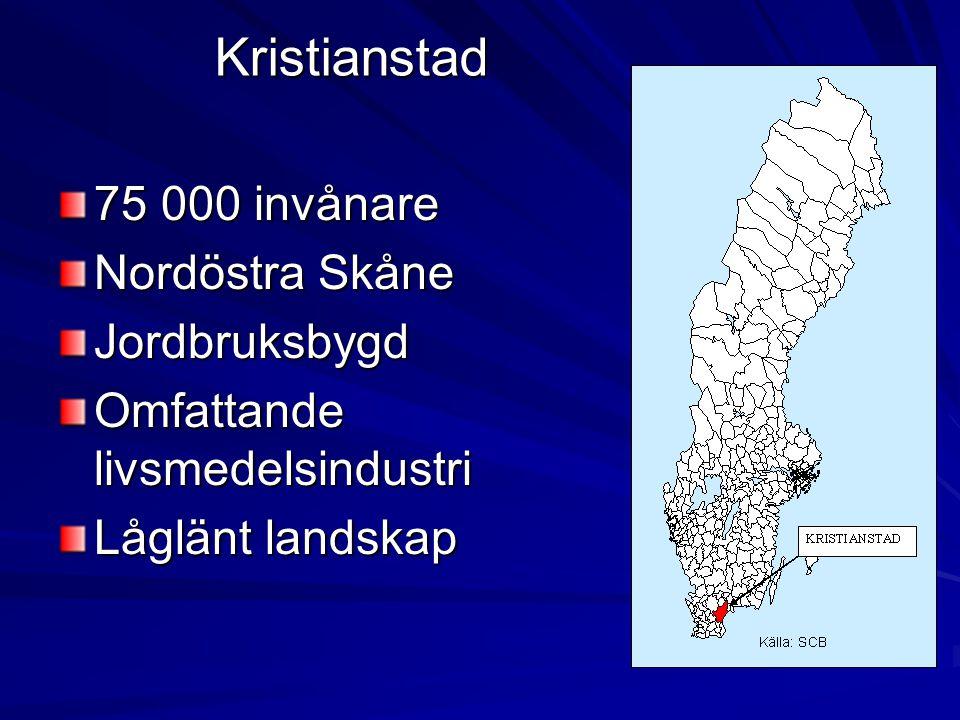 Kristianstad 75 000 invånare Nordöstra Skåne Jordbruksbygd