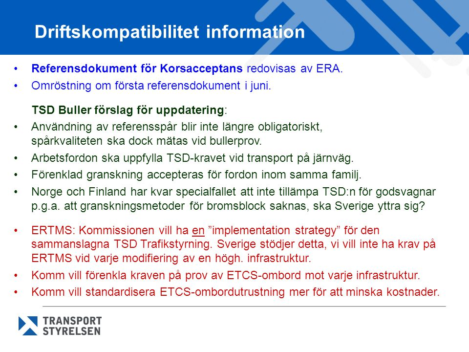 Driftskompatibilitet information