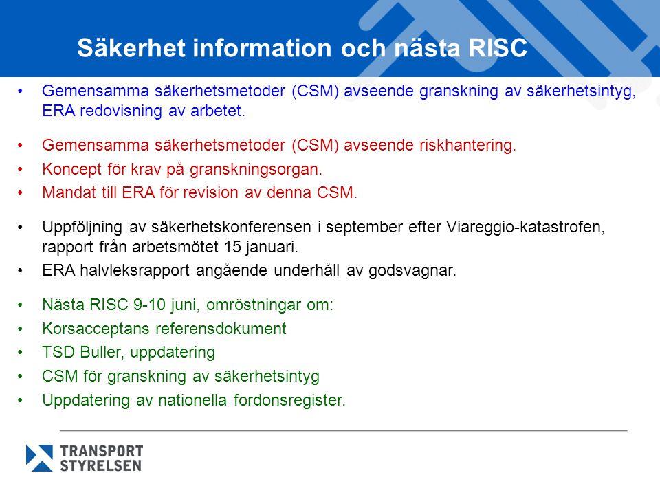 Säkerhet information och nästa RISC