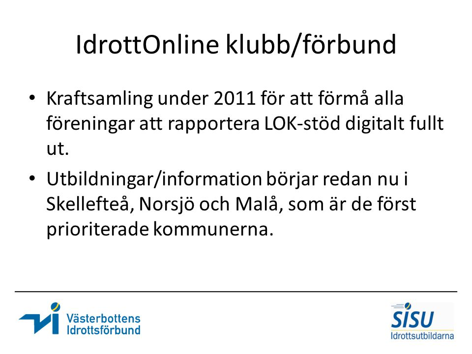 IdrottOnline klubb/förbund