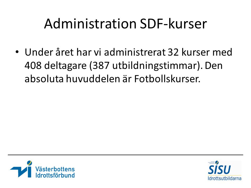 Administration SDF-kurser