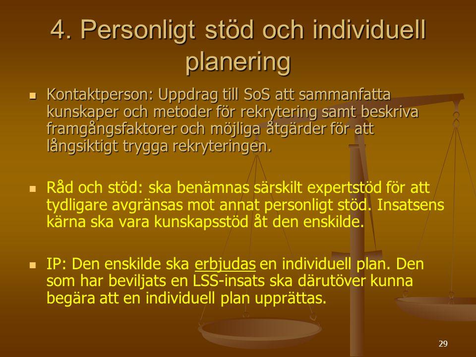 4. Personligt stöd och individuell planering