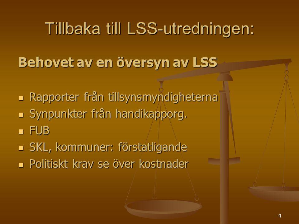 Tillbaka till LSS-utredningen: