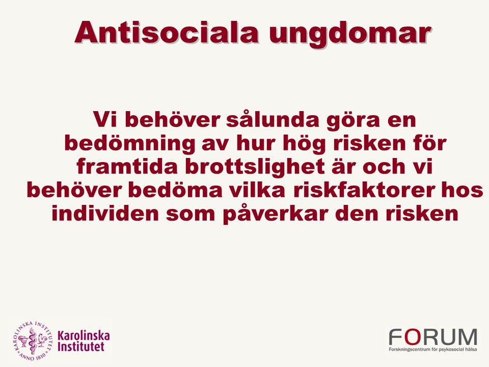 Antisociala ungdomar