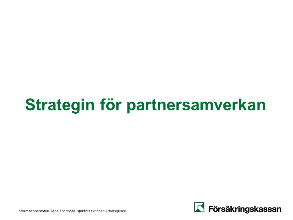 Strategin för partnersamverkan