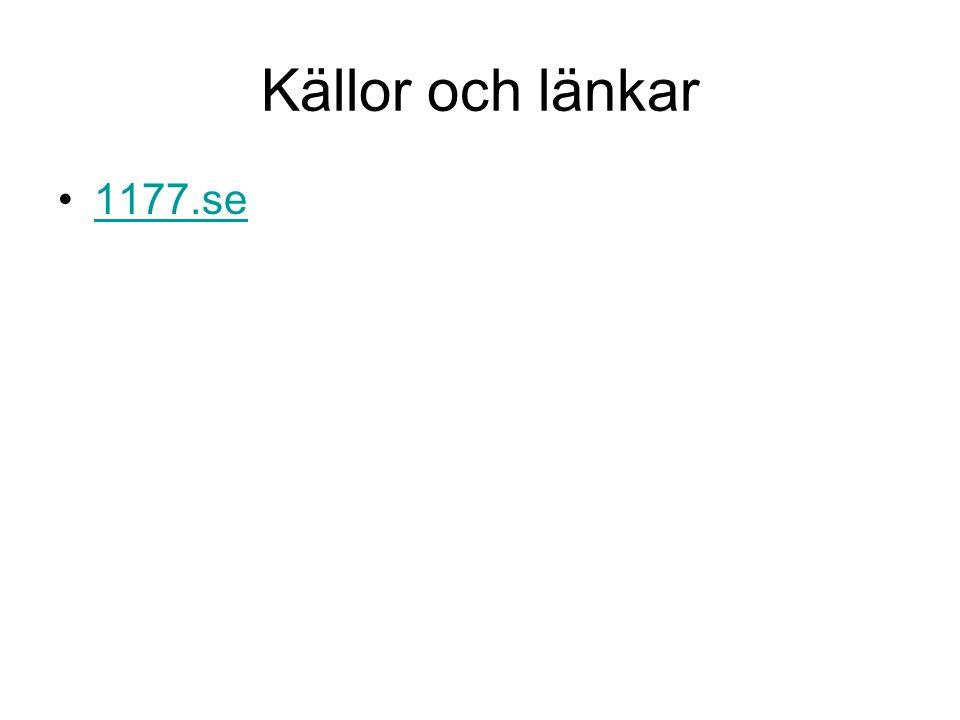 Källor och länkar 1177.se