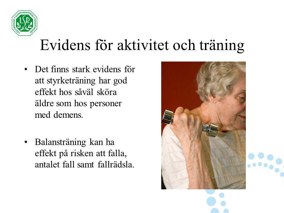 Evidens för aktivitet och träning