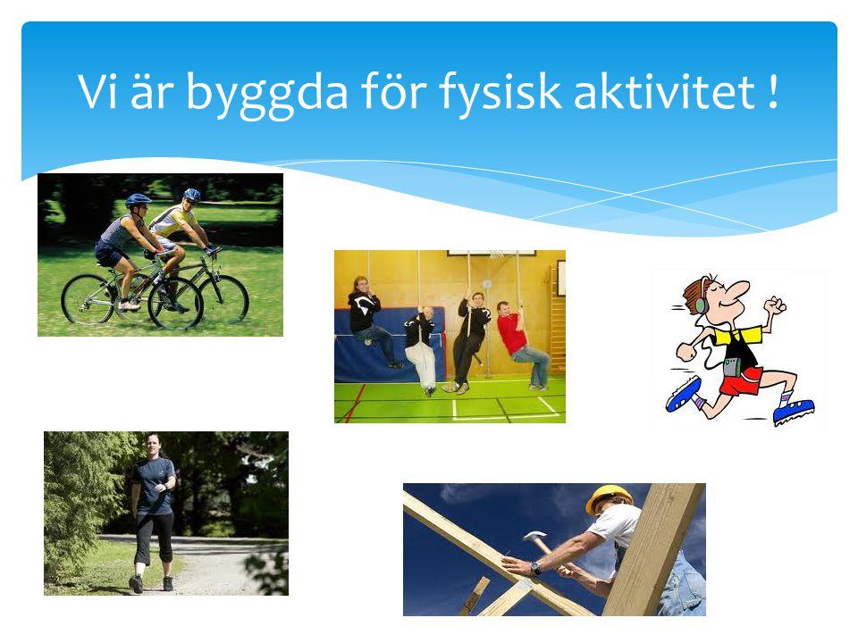 Vi är byggda för fysisk aktivitet !