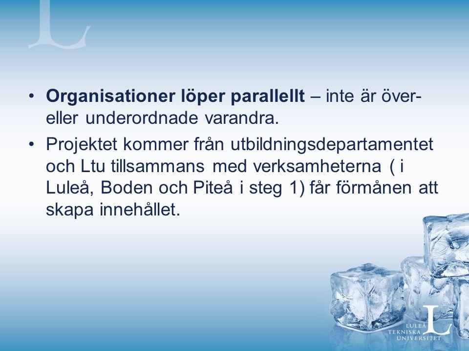 Organisationer löper parallellt – inte är över- eller underordnade varandra.