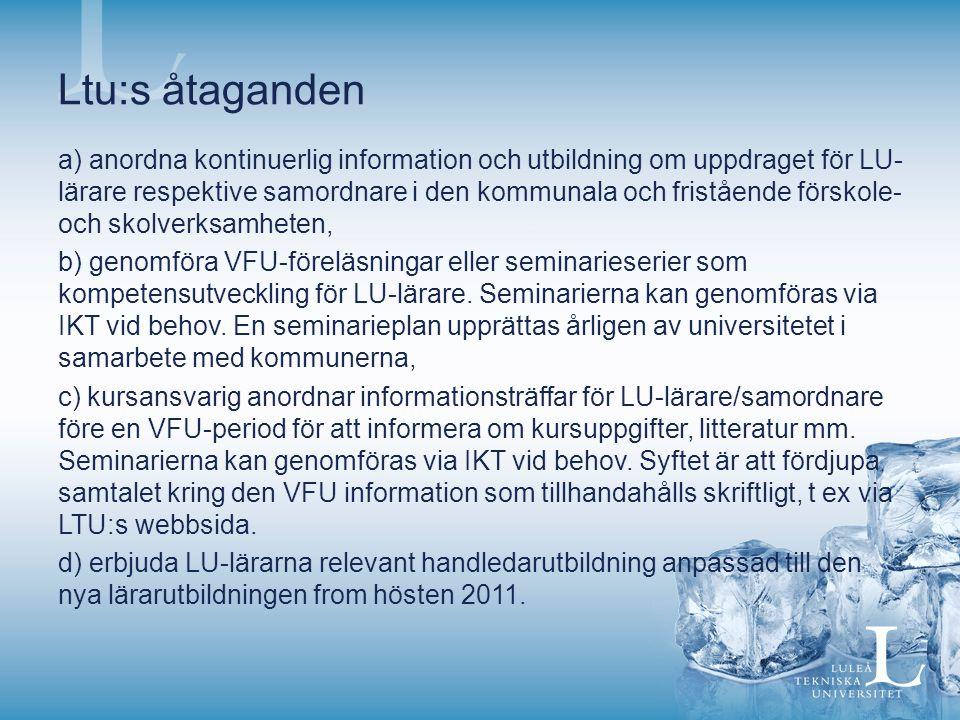 Ltu:s åtaganden