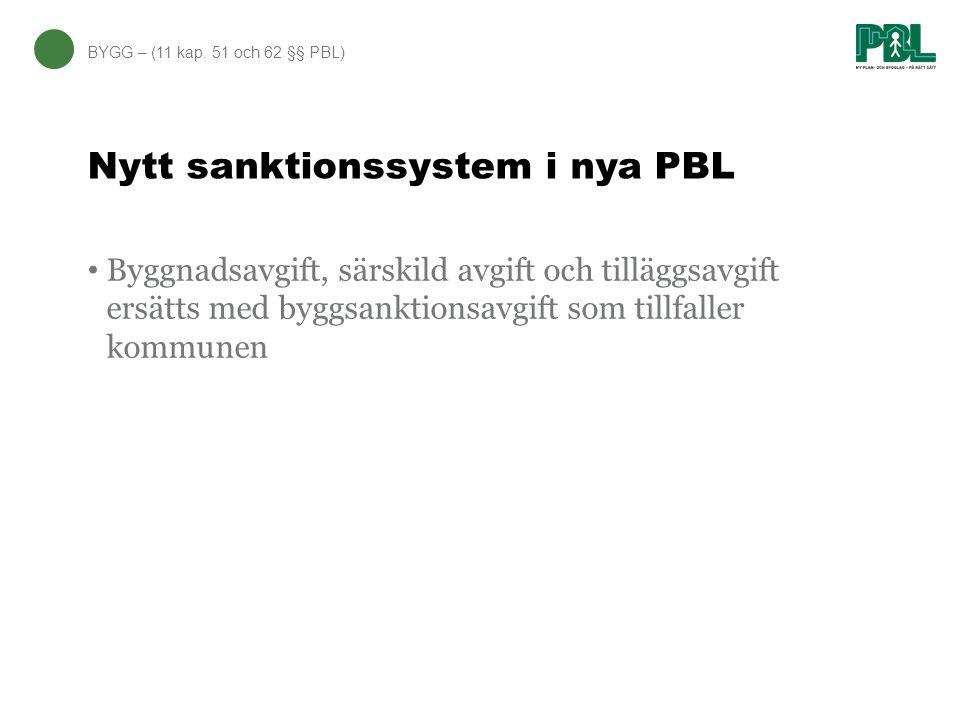 Nytt sanktionssystem i nya PBL