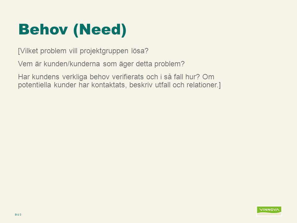 Behov (Need)