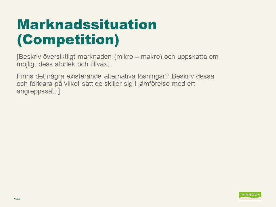 Marknadssituation (Competition)
