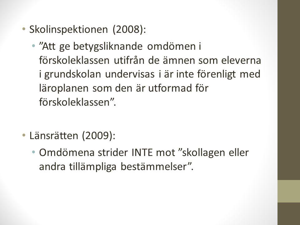 Skolinspektionen (2008):