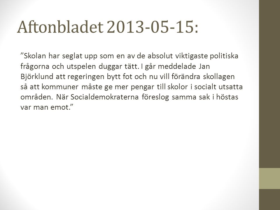 Aftonbladet 2013-05-15: