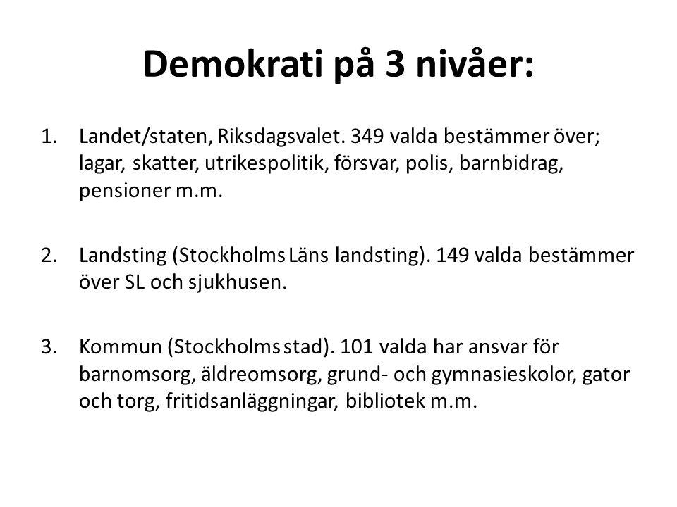 Demokrati på 3 nivåer: